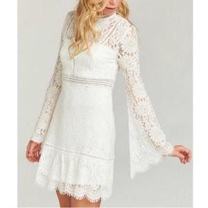 Show Me Your MuMu Naomi Mini Lace Dress XL NWOT